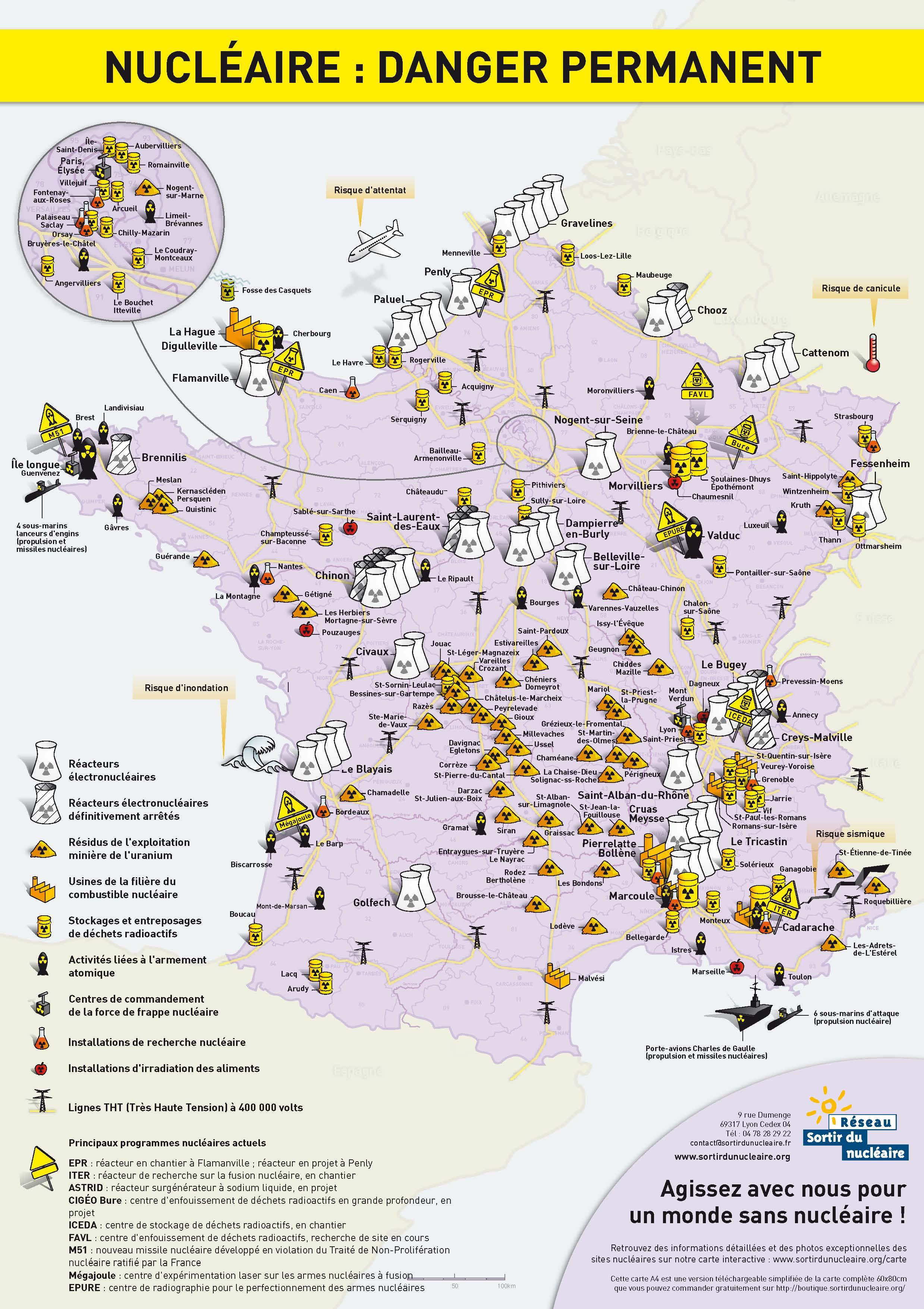 centrale nucléaire france carte Carte de France