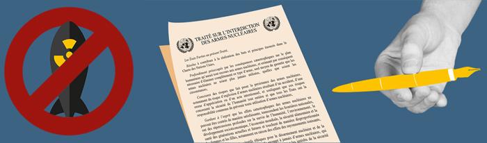 Nous voulons que la France signe le Traité d'interdiction des armes nucléaires, aidez-nous!